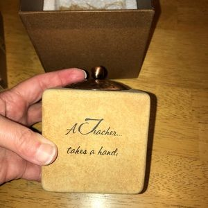 Other - NIB!! TEACHER GIFT CANDLE WITH INSP QUOTE AND BOX